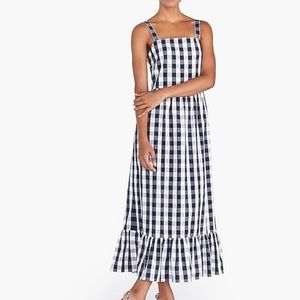 J. Crew Gingham Ruffle Maxi Dress Size XS